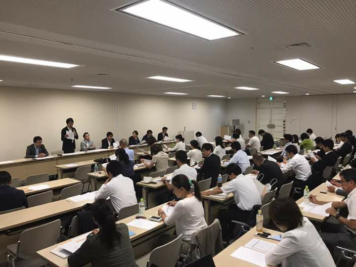 都民ファーストの会東京都議団の会派総会の様子