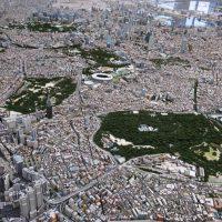 東京都の精巧な模型(写真)